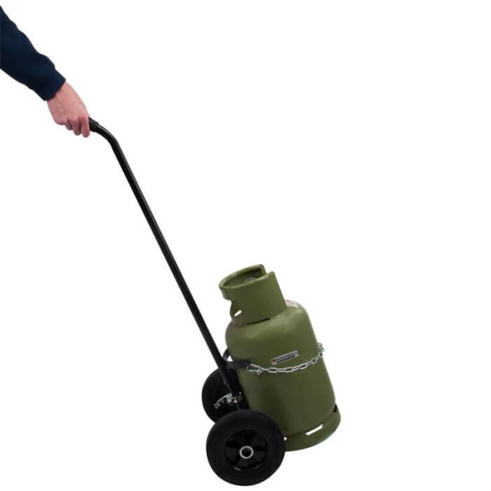 Gasflessen houders - Plancha trolley gas met deksel ...